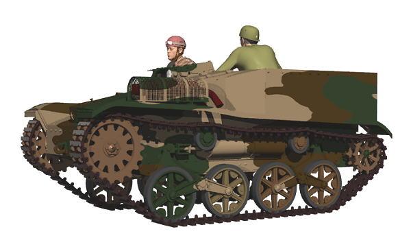 CG 日本陸軍 97式観測挺進車