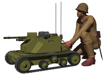 無線操縦戦車
