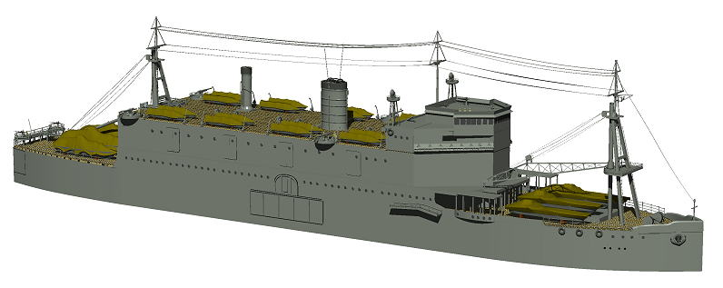 Japanese Army Troopship